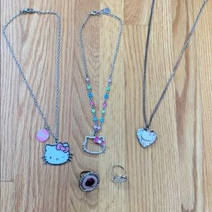 Pre-Bundled Hello Kitty Jewelry: Necklaces & Rings